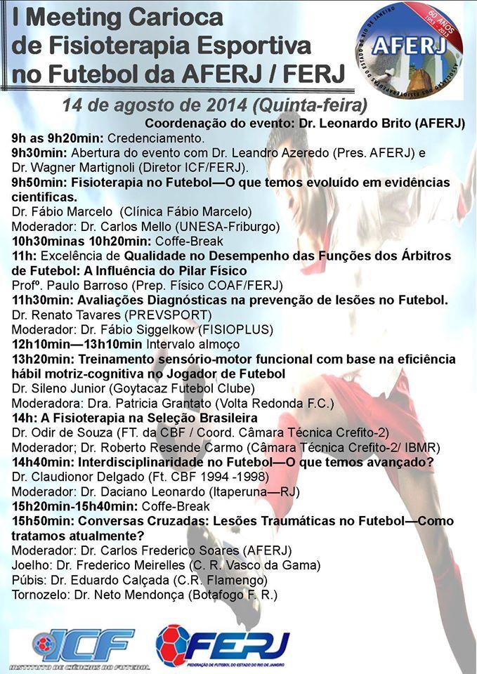 I Meeting Carioca de Fisioterapia Esportiva no Futebol da AFERJ FERJ 2